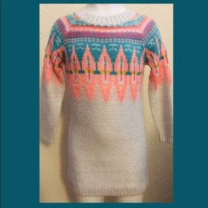 Cat & Jack Cream Sweater Dress size 2T